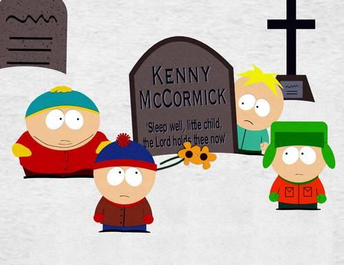 друзья на могиле Кенни